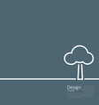 Tree standing alone symbol logo template corporate vector image vector image