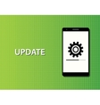 update apps smartphone in progress concept vector image vector image
