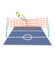 volleyball ground court cartoon vector image