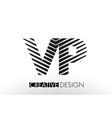 vp v p lines letter design with creative elegant vector image vector image