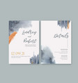 wedding card flower watercolor thanks card splash vector image