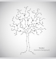 white science tree made connected lines and vector image