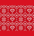 winter holiday seamless knitted pattern vector image vector image