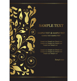 invitation card with golden floral element vector image