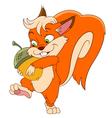 happy cartoon squirrel vector image