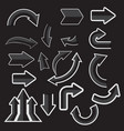 gray paper arrow stickers with shadows vector image