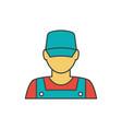 mechanic avatar icon vector image