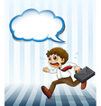 A man running hurriedly carrying a case vector image vector image