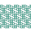 abstract dollar pattern vector image vector image