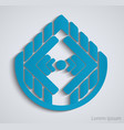 abstract geometric business sign vector image
