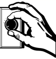 adjusting the knob vector image vector image