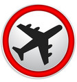 airplane airline aircraft icon icon for flight vector image vector image