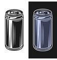 beer can objects in two styles black on vector image vector image