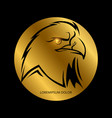 black eagle head silhouette vector image