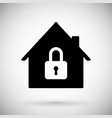 black house icon closed account symbol vector image