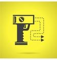 Black stun gun flat icon vector image vector image
