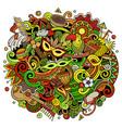 brazil hand drawn cartoon doodles vector image