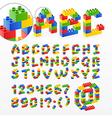 brick typography vector image vector image