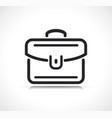 briefcase or suitcase line icon vector image vector image