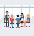 business team at meeting conference partners vector image vector image
