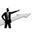 businessman pointing finger vector image vector image