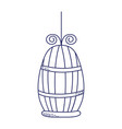 cage for bird pet cartoon isolated icon design vector image
