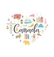 canada cartoon banner travel vector image
