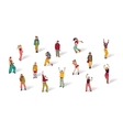 Casual people isolated on white and shadows vector image vector image
