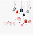 christmas poster design with decorative elements vector image