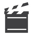 cinema flap icon vector image vector image