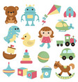 collection of toys icons collection of toys icons vector image