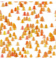 colored random pine tree background - winter vector image vector image