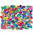 colorful splinters vector image vector image
