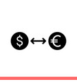currency exchange icon for web or mobile vector image vector image