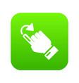cursor turn icon simple black style vector image