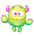 cute green monster vector image vector image