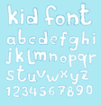 Doodle kid abc typeset vector image vector image