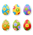 egg stickers vector image vector image