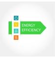 Energy efficiency logo vector image
