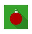 flat icon Christmas ball vector image vector image