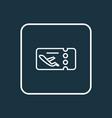 flight ticket icon line symbol premium quality vector image