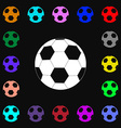 Football icon sign Lots of colorful symbols for vector image vector image