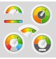 Gauge chart meter elements vector image