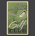 golf club professional sport championship vector image