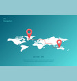 gps navigation around the world vector image vector image
