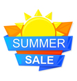 graphic summer sale vector image vector image