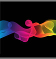 great rainbow waves colorful gradient line on vector image