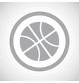 Grey basketball sign icon vector image vector image