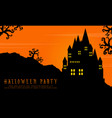 halloween with scary castle landscape background vector image vector image