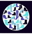 Icons set of fashion Footwear winter and autumn vector image